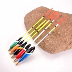 5Pcs/Set Sea Fishing Float Bobbers Set Mix Color Size Barguzinsky Fir Floats Tackle