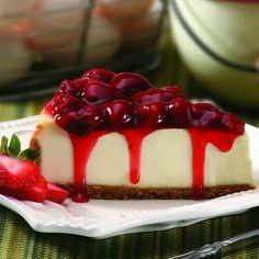 Strawberry covered cheesecake