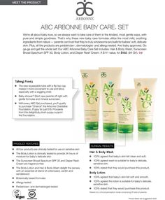 Arbonne's Baby line has a whole new formulation . Healthiest products for your little loves. Pure, safe, beneficial. lbrwoodrow@gmail.com