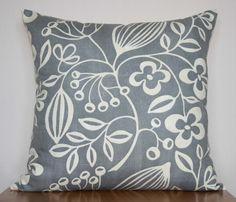HARLEQUIN SCION 'Sorbus' Fabric Cushion Cover in Grey & Cream - New. £10.50, via Etsy.