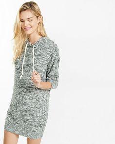 Express - marled hooded sweatshirt dress  size - large