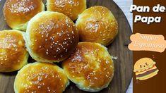 Pan de papa receta detallada Hamburger, The Creator, Bread, Food, Bread Recipes, Hamburgers, Cooking, Brot, Essen
