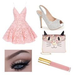 """""""Pinky Prom"""" by maddymads19 ❤ liked on Polyvore featuring Alex Perry, Lauren Lorraine, Betsey Johnson and Isaac Mizrahi"""