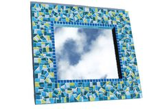 Lime Green and Teal Mosaic Mirror https://www.etsy.com/treasury/NTM5ODkzNXwyNzIyMjAyNjY1/bold-steps