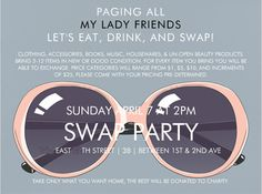 love the look of this invite, It is about time that I brought back my swap party!