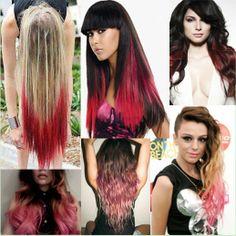 capelli rossi, le extension a clip, shatush