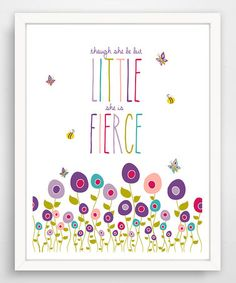Loving this Purple Flower 'Though She Be but Little' Giclée Print on #zulily! #zulilyfinds