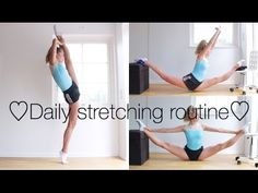 How to get: Flexible hips and legs for extensions / tilts - Pins Stretching Exercises For Legs, Daily Stretching Routine, Dance Flexibility Stretches, Dancer Stretches, Gymnastics Flexibility, Stretch Routine, Daily Exercise Routines, Flexibility Workout, Diet Exercise
