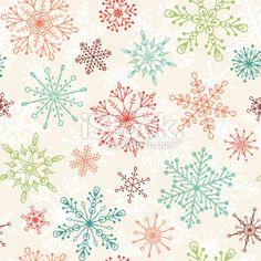 Vintage Christmas Pattern Royalty Free Stock Vector Art Illustration