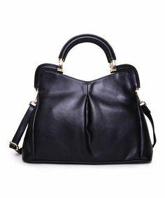 Love this Black Florrie Leather Satchel on  zulily!  zulilyfinds My Wallet 27c5d5f664c53