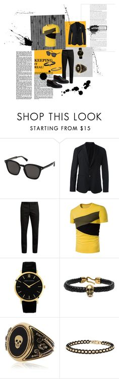 """Untitled #42"" by papillon825 ❤ liked on Polyvore featuring Gucci, Emporio Armani, Yves Saint Laurent, Larsson & Jennings, Alexander McQueen, David Yurman, Allen Edmonds, men's fashion and menswear"