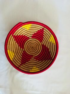 Rattan basket/ Vintage wall basket/ Natural rattan basket/ Woven natural basket/ Vintage wicker rattan/  Wicker storage basket/ Boho decor