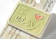 Sharing the etsy <3  I LOVE ETSY pin handmade ceramic highly by FaithAnnOriginals, $12.00