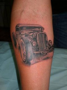 Hot Rod Car and Truck Tattoo 53