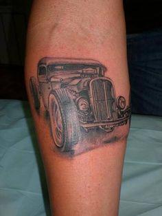 Hot Rod Car and Truck Tattoo 53