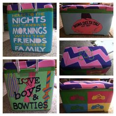 Cooler ideas Diy Cooler, Coolest Cooler, My Spring, Spring Break, Summer Time, Cooler Connection, Bubba Keg, Fraternity Coolers, Cooler Painting