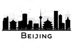 #Beijing #City #Skyline #Silhouette by Igor Sorokin on @creativemarket