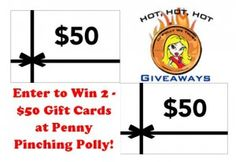2 - $50 Gift Cards up for grabs at http://pennypinchingpolly.com/?p=14298