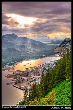 Juneau, Alaska; totally have been there, AND seen it at this level on a sea plane :D