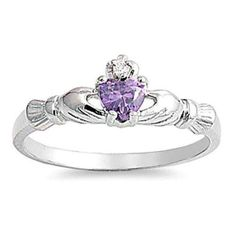 beautiful heart ring with real silver