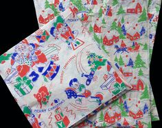 Vintage 1930's Art Deco CHRISTMAS Wrapping by HolidayKitschklatsch