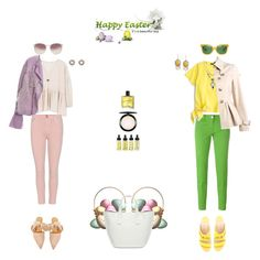 """""""HAPPY EASTER"""" by k-hearts-a ❤ liked on Polyvore featuring Jacob Cohёn, J.Crew, MANGO, Chloe + Isabel, Tory Burch, Boutique Moschino, Miller Harris, Citizens of Humanity, Linda Farrow and Polly Plume"""