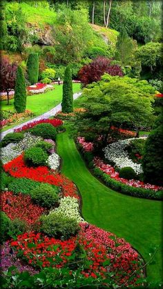 59 stunning front yard courtyard landscaping ideas 35 ~ vidur net is part of Butchart gardens - 59 stunning front yard courtyard landscaping ideas 35 Courtyard Landscaping, Front Yard Landscaping, Residential Landscaping, Landscaping Design, Outdoor Landscaping, Beautiful Flowers Garden, Beautiful Gardens, Beautiful Park, Beautiful Landscapes