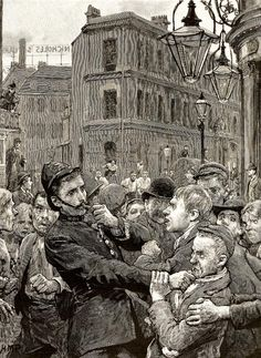 'Police work in the East End' - The Graphic (London, England), Saturday, December 28, 1895 - Issue 1361.