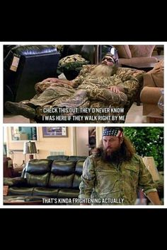 Duck Dynasty's Phil and Willie.