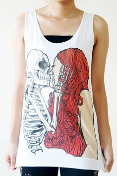 Hey, I found this really awesome Etsy listing at http://www.etsy.com/listing/155093038/sml-skull-kiss-girl-shirt-punk-rock