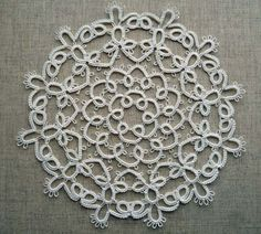 Handcrafted tatting doily ivory and Handcrafted by ShopGift