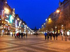 A view of Wenceslas Square, Prague, Czech Republic