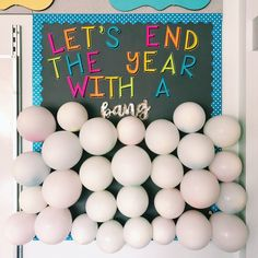Let's end the year with a bang! Countdown to the end of the school year celebration. Each day from now until the end of the year I will pop a balloon. Each balloon has a students name inside. The student of the day will get VIP seating, line leader, lunch with the teacher, and we'll write all the things we love about that student up on the whiteboard. I'll take a picture of them with it, and then email it to their parents.