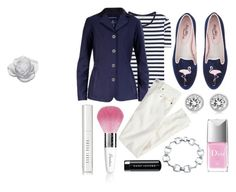 """""""navy & pink stripes"""" by eqlmag on Polyvore featuring Acne Studios, Michael Kors, Bling Jewelry, Christian Dior, Bobbi Brown Cosmetics, Daum, Marc Jacobs, Guerlain, J.Crew and Spring"""