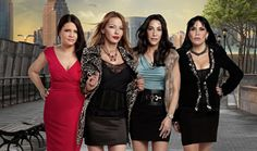 "The staring cast of ""Mob Wives."""