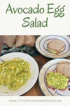 Avocado Egg Salad Easy Delicious Recipes, Good Healthy Recipes, Great Recipes, Vegetarian Recipes, Dinner Recipes, Cooking Recipes, Snack Recipes, Healthy Egg Salad, Avocado Egg Salad