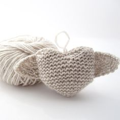 Heart with Wings Hand Knitted Valentine's Day by NattyKnits, $10.00