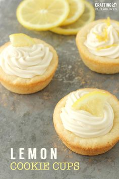 Lemon cookie cup recipe that is fresh and delicious for spring! Great Spring dessert idea.