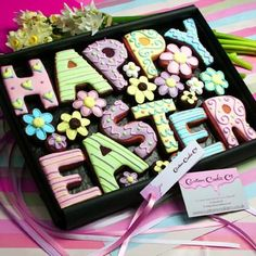 Happy Easter cookie gift box