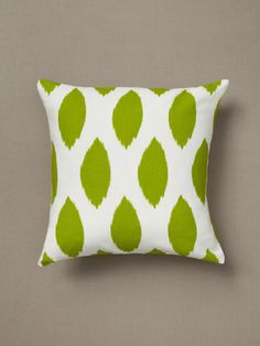 such vibrant colors in this ikat pillow