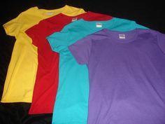 4 Medium Ladies Tee Gildan Women's Colors T Shirts  #Gildan