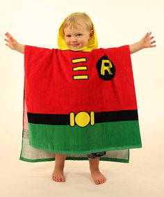 Look what I found on #zulily! Red Robin Terry Hooded Poncho - Kids by Intimo #zulilyfinds