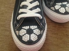 Soccer Swarovski Blinged Converse by TeamMomBling on Etsy
