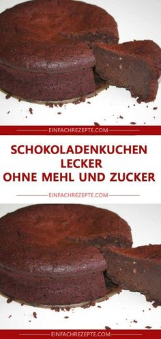 Chocolate cake delicious without flour and sugar 😍 😍 😍 - backen - - Schokoladenkuchen lecker ohne Mehl und Zucker 😍 😍 😍 Chocolate cake delicious without flour and sugar 😍 😍 😍 Banana Dessert Recipes, Easy Smoothie Recipes, Easy Smoothies, Healthy Dessert Recipes, Cupcake Recipes, Keto Bagels, Cheese Dessert, Coconut Recipes, Fall Desserts