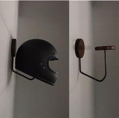 Helmet Rack.
