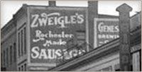 "Zweigle's!  A Rochester delicacy.  Zweigle's Hot Dogs are very unique and are especially known for their ""white hot"" variety (although I prefer the red).   #MyHometownPins"