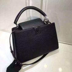 Louis Vuitton Grained Calfskin Multicolor Capucines PM Bag Black (Silver  Hardware) a97c39ebee