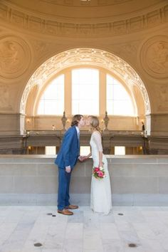 12 City Hall Weddings That Will Make You Believe In True Love | Plus Size Wedding Dresses