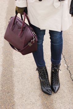 Sam Edelman Lace-up boots, Givenchy bag