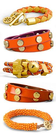 Tory Burch Cuffs and Bracelets I think my summer color is orange! Jewelry Accessories, Fashion Accessories, Fashion Jewelry, Jewelry Box, Jewelry Rings, Bijou Box, Designing Women, Tory Burch, Models